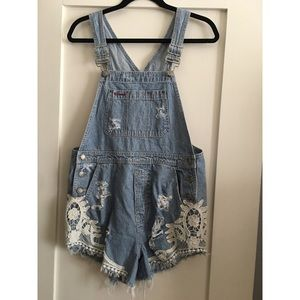 LF One of a kind denim overalls